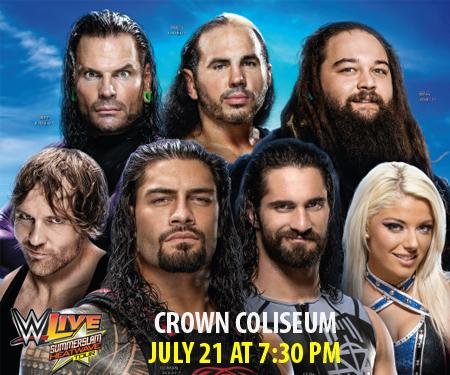 WWE Event at the Crown Coliseum on July 21st